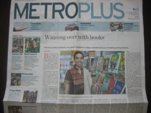 Front page of the Hindu Metro Plus, Madurai